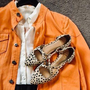 Gap NWOT Strappy Leopard Flat Shoe